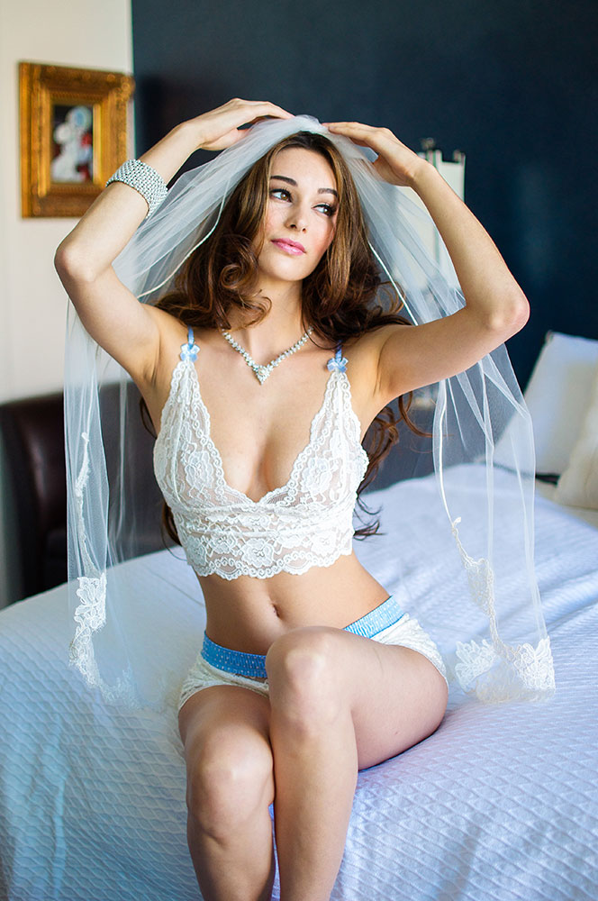 Stephy May in our Bridal Lingerie