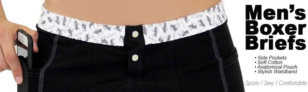 Men's Underwear | Foxers Boxer Briefs with Pockets