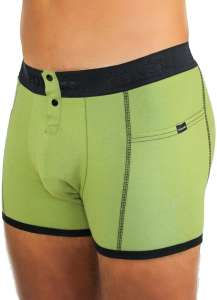 Men's Sage Green Boxer Briefs with Foxers Logo Band