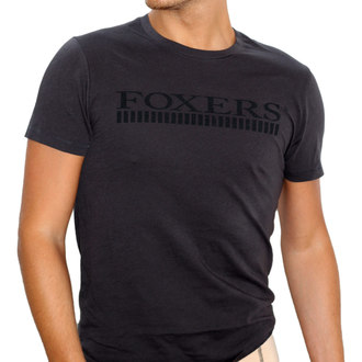 Premium Organic Cotton Men's Black Tshirt with Black FOXERS Logo